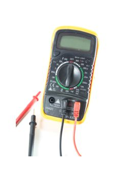 photo of hand-held digital testing device
